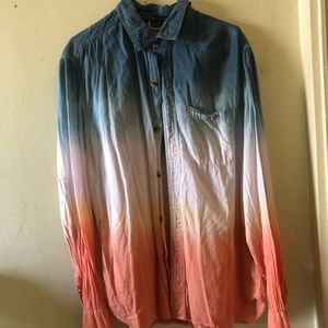 Urban Outfitters Ombre Button Down Sz M